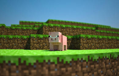 Minecraft: Pig by SilverSliver17