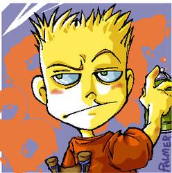 Bart Simpson by lpspalmer