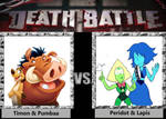 Battle: Timon and Pumbaa vs. Peridot and Lapis by s233220