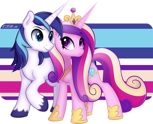 Cadance and Shining Armor by CTB-36