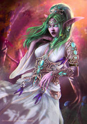 Tyrande Whisperwind by dgblackhalo