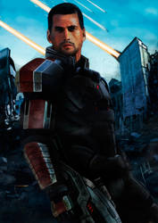 Mass Effect - Commander Shepard by Facuam