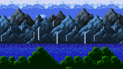 sonic fangame project background (lush ruins act1) by segafangamer