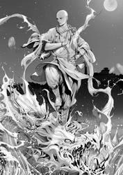 magical monk HUAN ZHEN 1 by zhoupeng