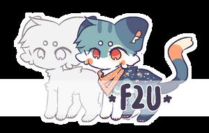 f2u customizable feral lineart by tuqiiluka