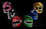 Mighty Morphin Power Rangers by JellySoupStudios