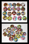 Animal Crossing Buttons by JellySoupStudios