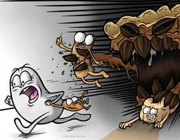 Attack of the Pecan Pie by JellySoupStudios
