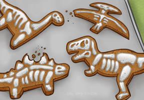Dino Cookies by JellySoupStudios