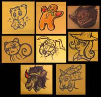 Oct-Dec Order Doodles by JellySoupStudios