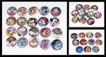 90's Cartoon Button Set by JellySoupStudios