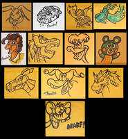 Envelope Doodles 2017 by JellySoupStudios