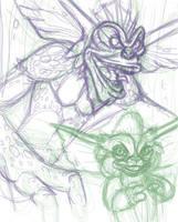 Mohawk Sketch by JellySoupStudios
