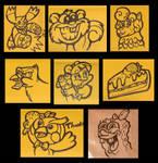 Last envelope doodles of 2018 by JellySoupStudios