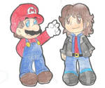 Christmas Requests!: Mario and Emeffy by goldenwinterdaisies