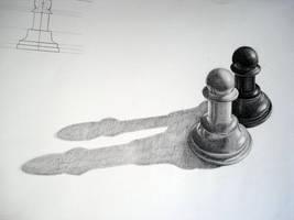 Pencil Drawn Pawns by azzza