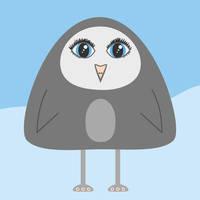 Cute geometric cartoon penguin by azzza