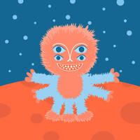 Focussian Fluffy Alien by azzza