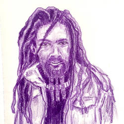 Rastafarian character drawing  by azzza