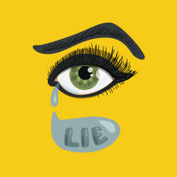 Lying eye with tears by azzza
