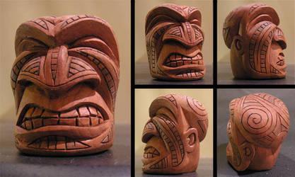 Maori Tiki Face 2 by tflounder