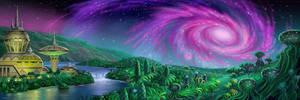Spiral Galaxy Station by AlanGutierrezArt