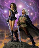 Sailor Orion and Bellatrix by AlanGutierrezArt
