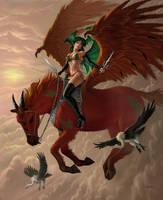 Zalla And Bloodwraith by AlanGutierrezArt