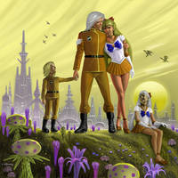 Venus Kunzite and Family by AlanGutierrezArt