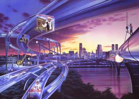 Information Superhighway by AlanGutierrezArt
