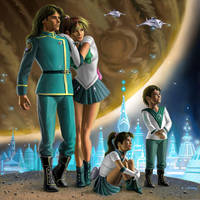 Jupiter and Family by AlanGutierrezArt