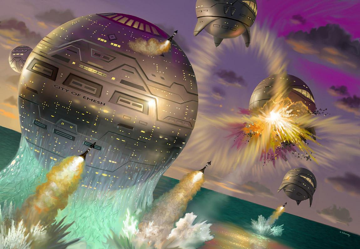 Space Viking's Throne by AlanGutierrezArt