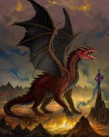 The Fallen Dragon by AlanGutierrezArt