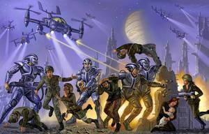 Warworld Codominium: Cyborg Revolt! by AlanGutierrezArt