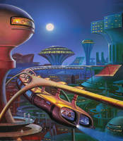The Year's Best Science Fiction Fourth Annual by AlanGutierrezArt