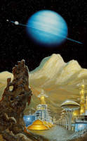 Issac Asimov's Library of the Universe by AlanGutierrezArt
