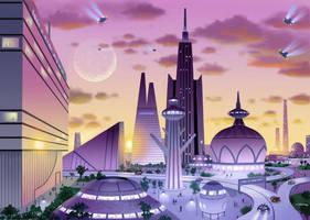 Future Cityscape by AlanGutierrezArt