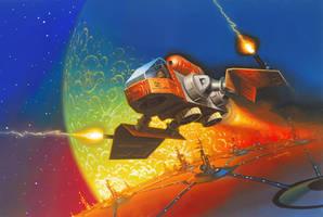 Legions of Power Flying Enemy Excursion by AlanGutierrezArt
