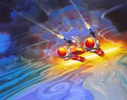 Legions of Power Flying Enemy by AlanGutierrezArt