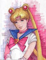 Sailor Moon (marker version) by AlanGutierrezArt