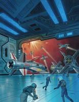 X Wing Fighter Scramble by AlanGutierrezArt