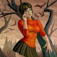 Scooby Doo Velma by AlanGutierrezArt