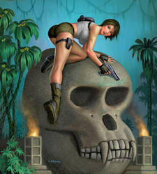 Lara Croft On Skull Island by AlanGutierrezArt