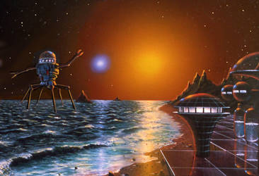 Shore Binary by AlanGutierrezArt