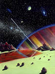 First Space Painting by AlanGutierrezArt