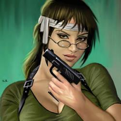 Lara Croft Megane by AlanGutierrezArt