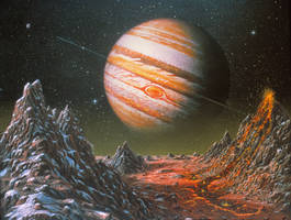 Jupiter From Io (original version) by AlanGutierrezArt