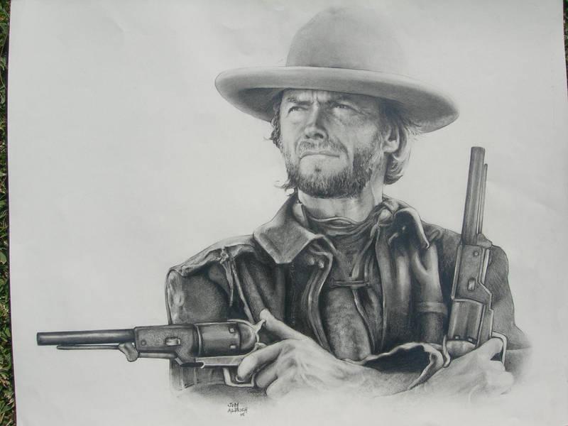 Clint Eastwood by Cutshaw1