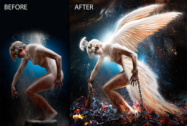 Phoenix before and after by digitalessandra
