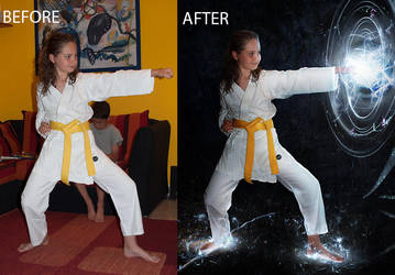 Karate Kid before and after by digitalessandra